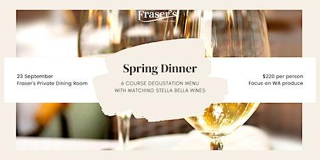 Fraser's Spring Dinner | 6 course degustation with Stella Bella wines tickets