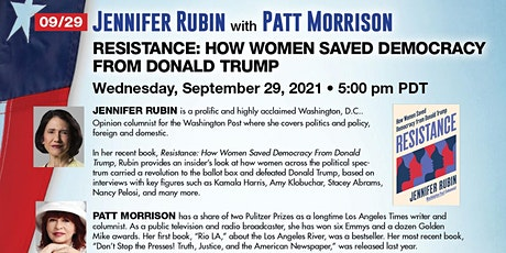 Jennifer Rubin:   Resistance: How Women Saved Democracy from Donald Trump tickets