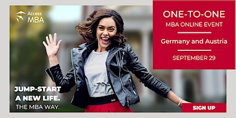 Access Virtual MBA Event Germany and Austria tickets