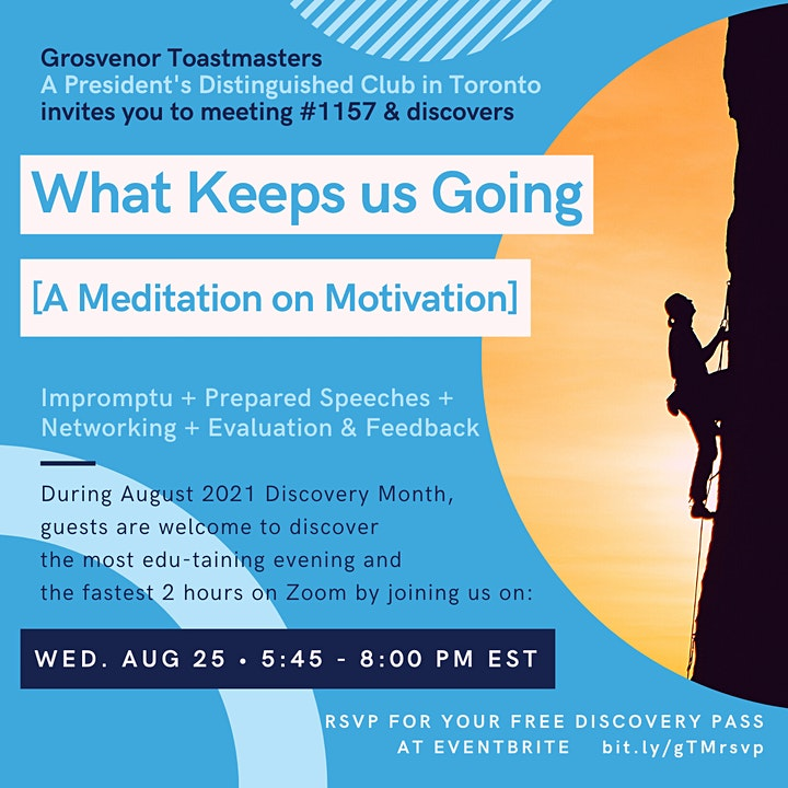 gTM Online Club Meeting #1157 - Theme: What Keeps Us Going image