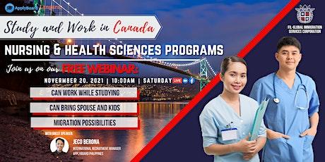 FREE WEBINAR: NURSING AND HEALTH SCIENCES PROGRAMS tickets