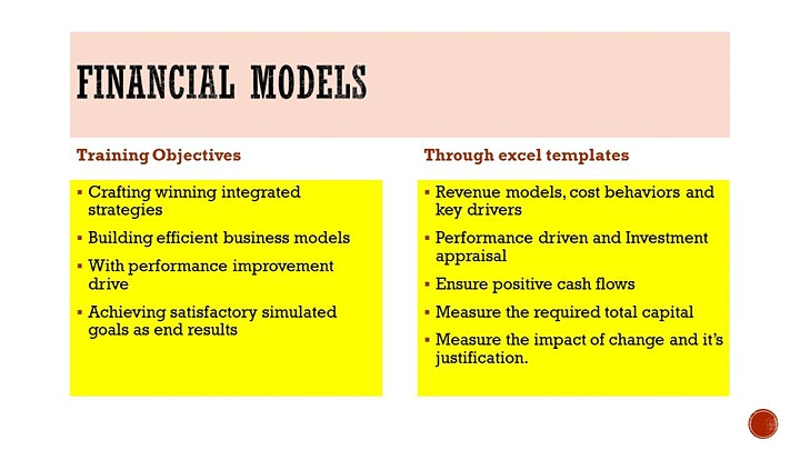 FINANCIAL MODELLING for CEOs via online course image