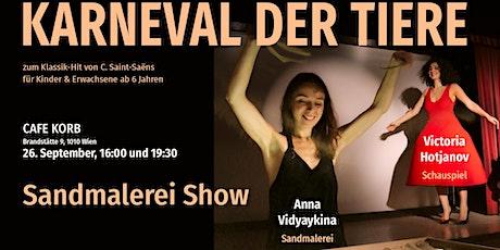 """Sandmalerei Show """"Karneval der Tiere"""" tickets"""