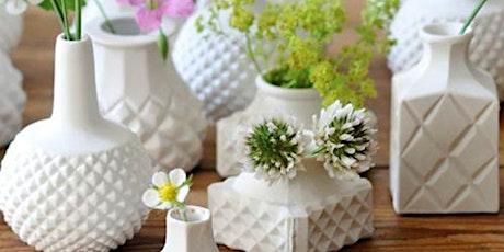 Flower Bud Vase |  Pottery Workshop for Beginners tickets