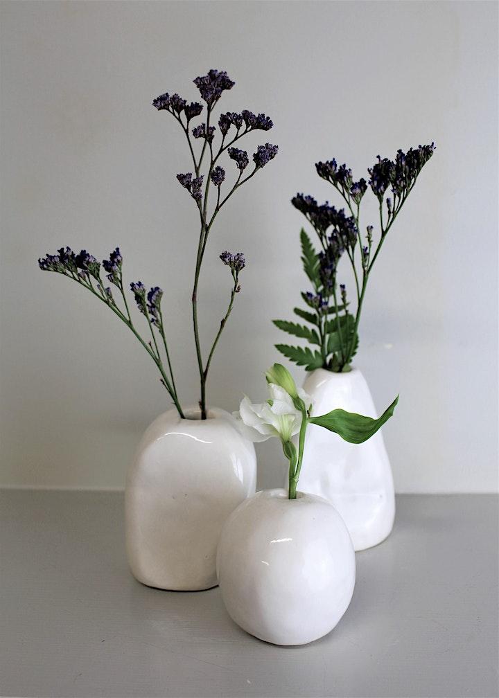 Flower Bud Vase |  Pottery Workshop for Beginners image