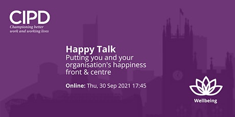 Happy Talk | Wellbeing that puts happiness front & centre tickets