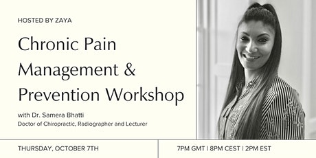Chronic Pain Management & Prevention Workshop tickets