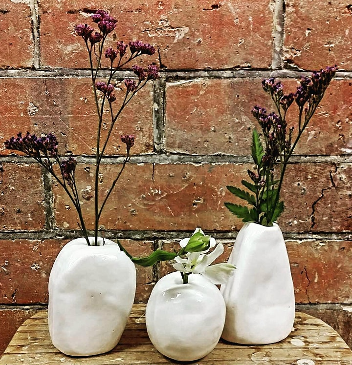 Make Your Own Flower Bud Vase | Pottery Workshop w/ Siriporn Falcon-Grey image