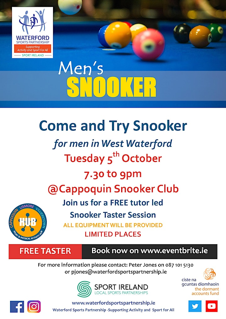Come & Try Snooker for Men in West Waterford image