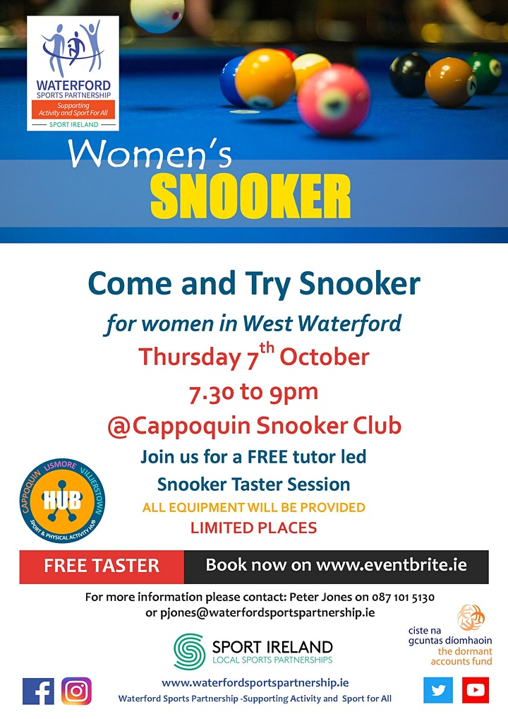 Come & Try Snooker for Women in West Waterford image