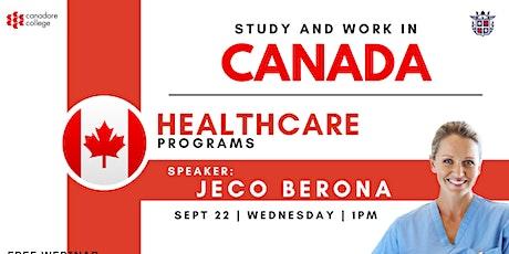 FREE WEBINAR: HEALTHCARE PROGRAMS WITH CANADORE COLLEGE tickets