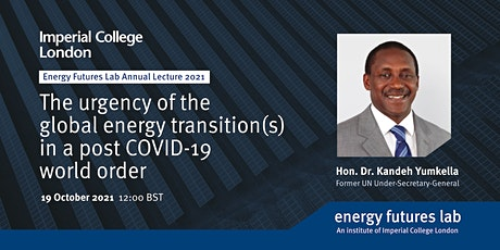 The urgency of the global energy transition(s) in a post COVID-19 world tickets