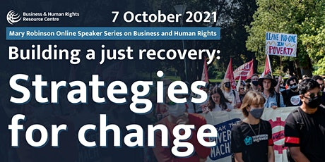 Building a Just Recovery: Strategies for Change tickets
