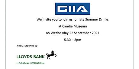 GIIA Summer Drinks tickets