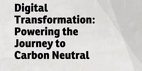 LDF 2021: Digital Transformation: Powering the Journey to Carbon Neutral tickets