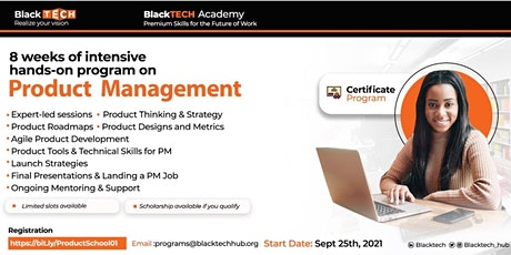 BlackTECH Product School: Expert-led practical Product Management course tickets
