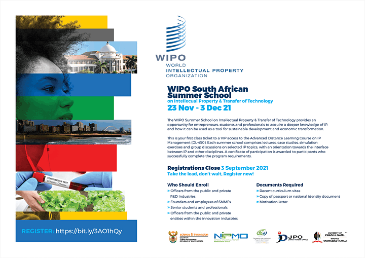 WIPO-SA Summer School on Intellectual Property and Transfer of Technology image