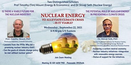 Kaleidoscope Webinar on Climate Change and Nuclear Energy tickets