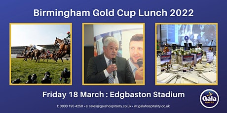 Birmingham Gold Cup Lunch 2022 tickets