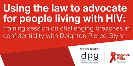 Using the law to advocate for people living with HIV:  session 3 tickets
