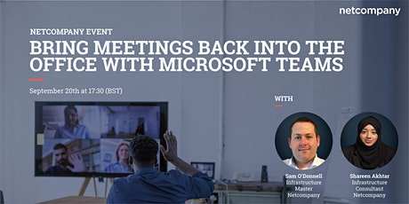 Bring meetings back into the office with Microsoft Teams tickets