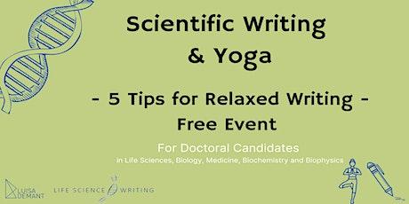 Scientific Writing & Yoga Info Event Tickets