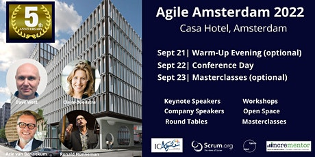 Agile Amsterdam 2022 | Conference and optional Master Classes tickets