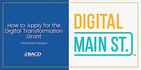 Digital Main Street Grant Information Session tickets