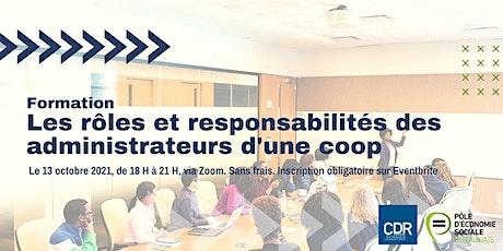 Les rôles et responsabilités des administrateurs d'une coopérative billets