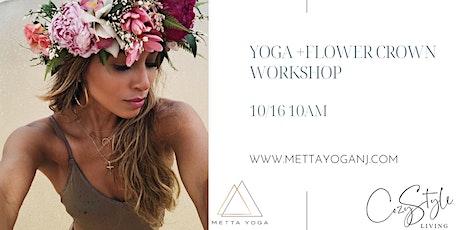 Yoga  + Flower Crown Workshop tickets