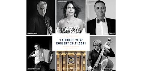 """Das Wohnzimmer Düsseldorfs präsentiert  """"La Dolce Vita"""" mit Claudia Oddo Tickets"""