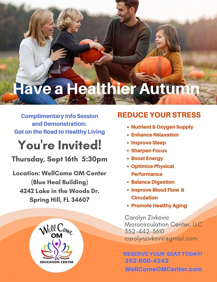Microcirculation Therapy Info Session: Have a Healthier Autumn image