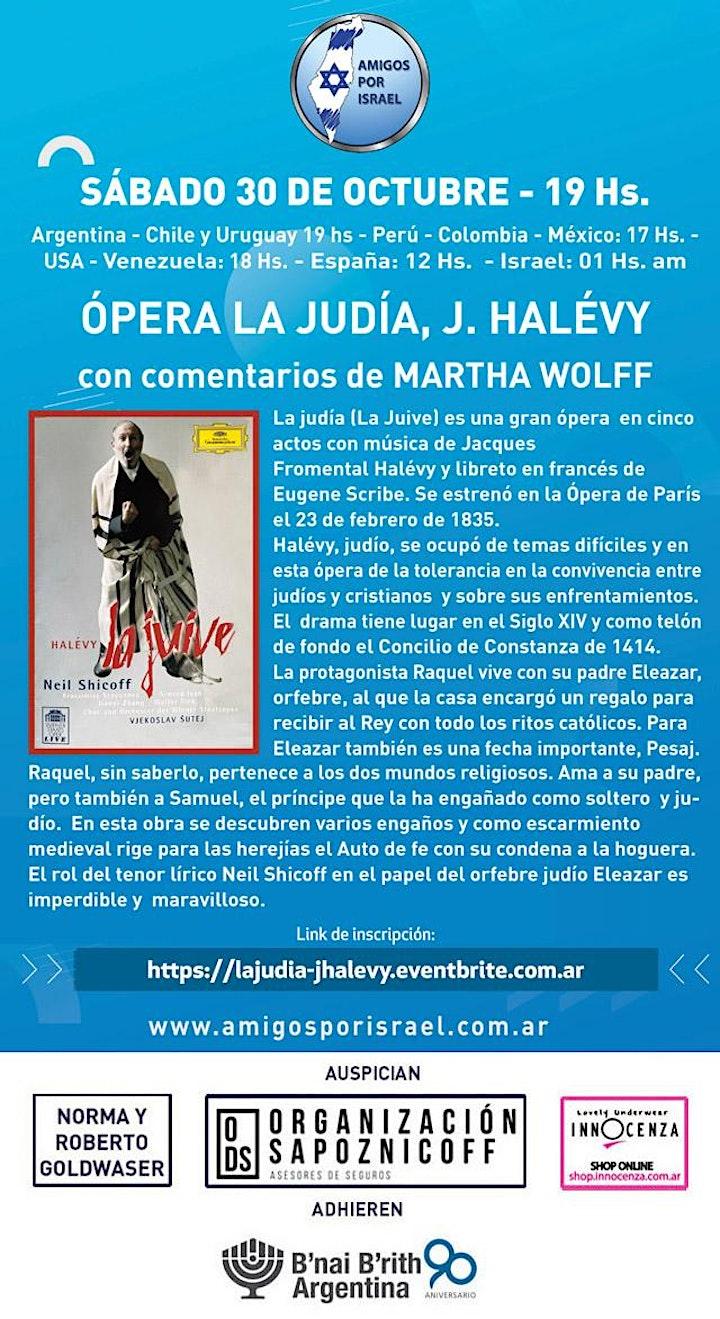 Imagen de OPERA LA JUDIA (LE JUIVE) CON COMENTARIOS DE MARTHA WOLFF