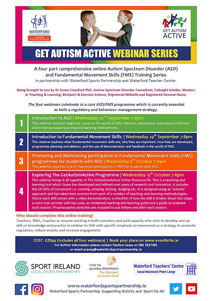 Get Autism Active Webinar Series with Dr. Susan Crawford image