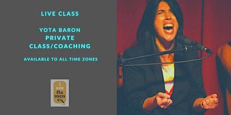 Online Private Class / Coaching /Yota Baron entradas