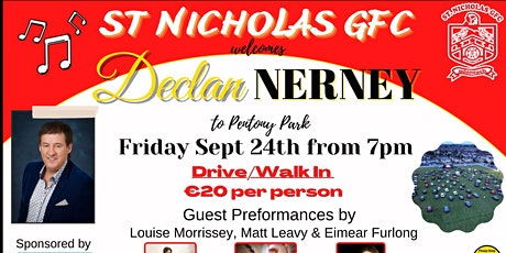 Declan Nerney & Band Live in Drogheda, Drive-In or Walk-In tickets