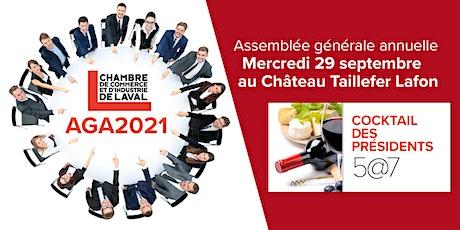 AGA CCILaval 2021 et Cocktail des présidents billets