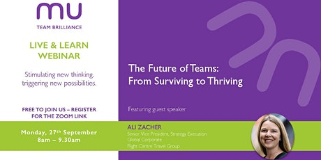 The Future of Teams: From Surviving to Thriving tickets