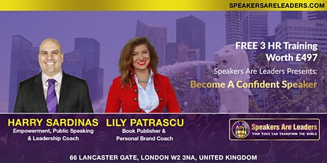 Conquer Your Fear Of Speaking 6:00PM UK Time tickets