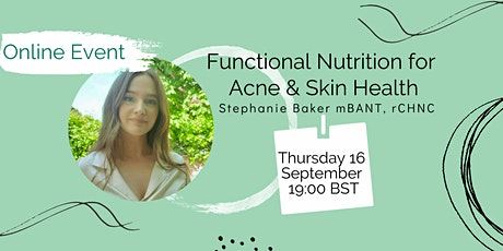 Functional Nutrition for Acne & Skin Health tickets