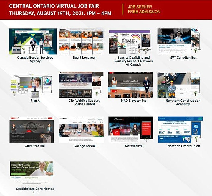 Sudbury Virtual Job Fair - Thursday, August 19th 2021 image