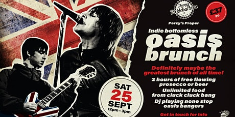 PERCY'S PROPER INDIE BOTTOMLESS OASIS BRUNCH tickets