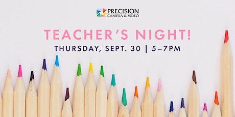 Teacher's Night at Precision Camera tickets