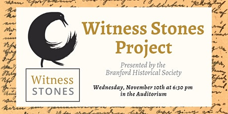 Witness Stones Project: Presented by the Branford Historical Society tickets