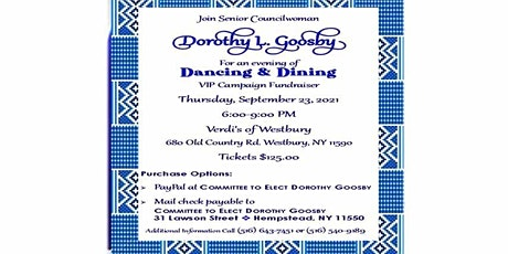 Dancing & Dining Committee to Elect Dorothy Goosby tickets