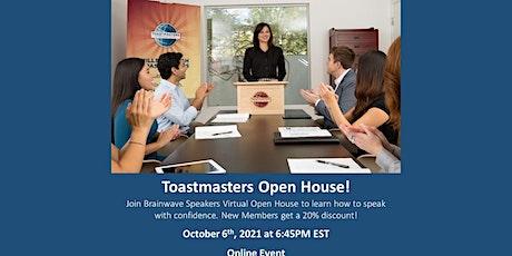 Brainwave Speakers Toastmasters Club - OPEN HOUSE tickets