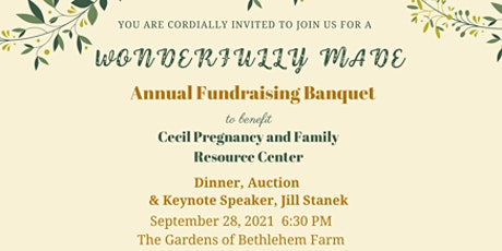 A Wonderfully Made Annual Fundraising Banquet tickets
