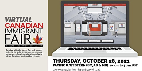 Canadian Immigrant Virtual Fair: Western Canada (Vancouver, AB & MB) tickets