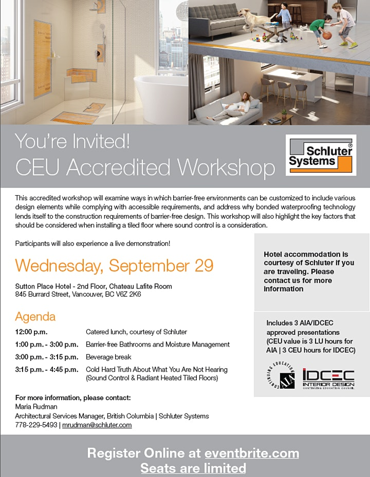 Schluter Systems CEU Accredited Workshop image