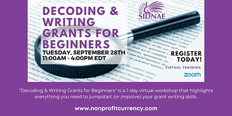 Decoding & Writing Grants for Beginners tickets